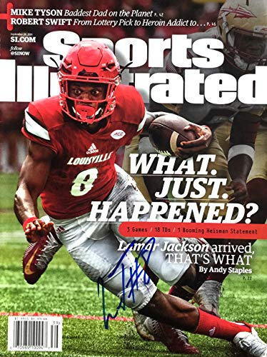 Lamar Jackson HEISMAN Louisville Cardinals Autographed Sports Illustrated magazine 9/26/16 (Best Of Louisville Magazine)