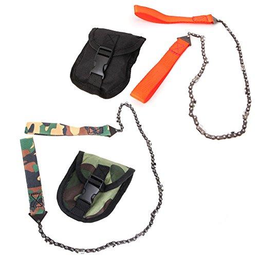 ULKEME Portable Survival Chain Saw Pocket Pouch Hand ChainSa