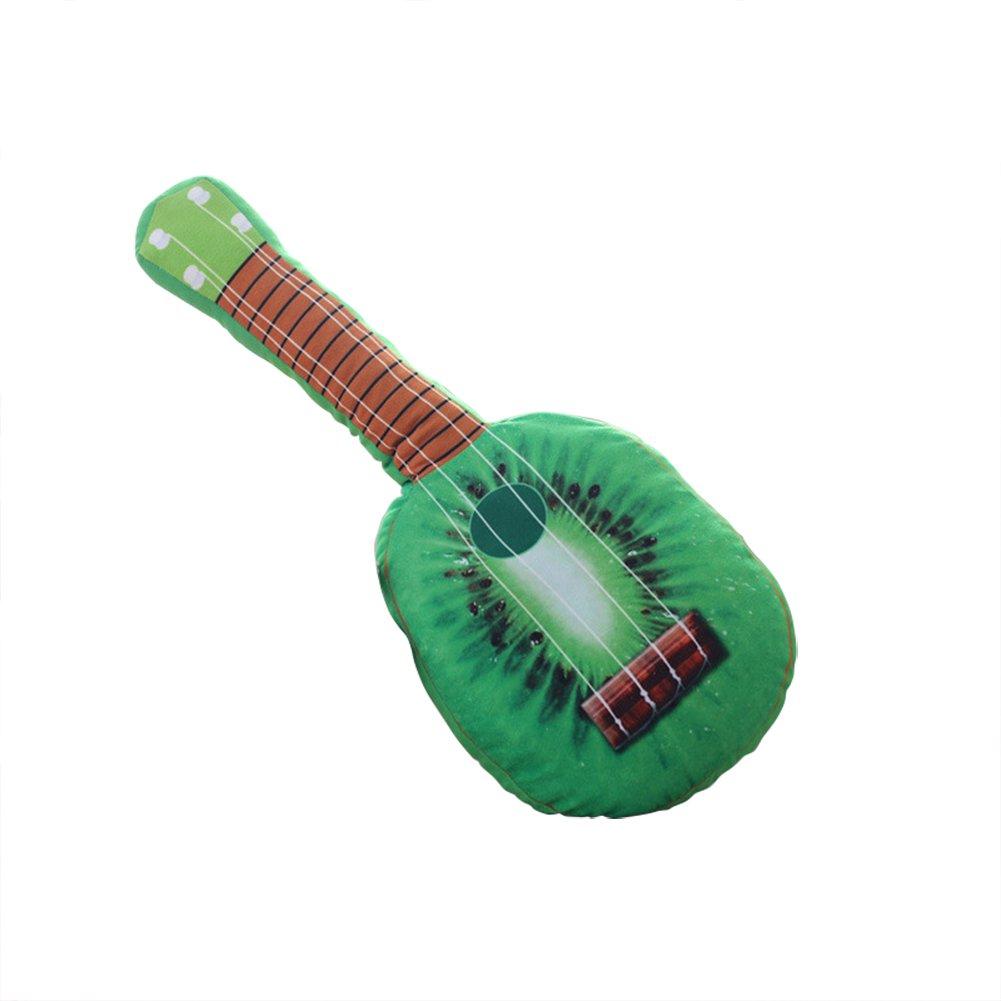 Dosige Guitarra simulada,Almohada de Fruta,Cojín de Oficina,Almohada Larga,Juguete Esponjoso,Almohada para Dormir Size 65cm (Orange)