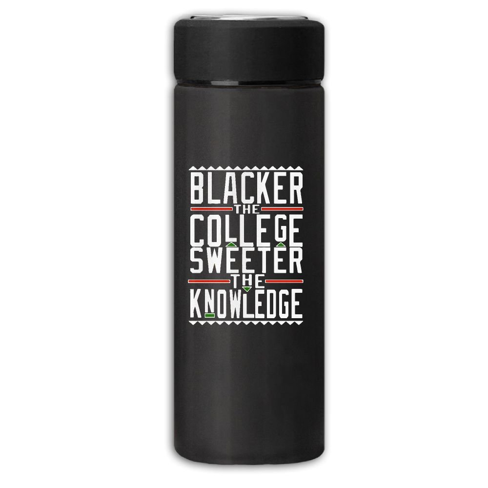 Blacker The College Sweeter The Knowledge Business Travel Thermal Mug Vacuum Insulated Cup For Hot And Cold Drinks Coffee Tea 12oz