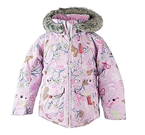 Obermeyer Kids Girls Taiya Jacket Snowday - Let's Play Print 7 & Glove by Obermeyer