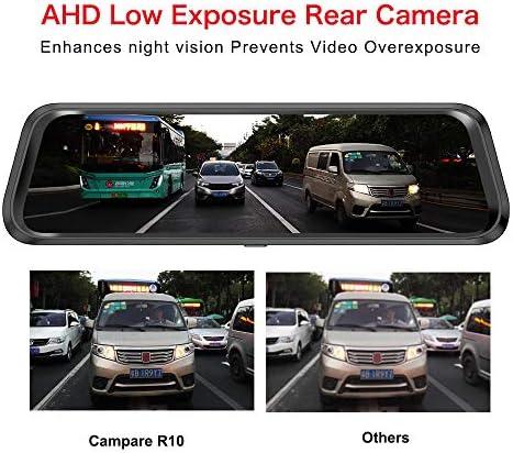 ミラーダッシュライブチャット、1296P車DVRカメラフルHD、170°のワイドアングル、WDR、Gセンサー、ループ・レコーディングやモーション検出