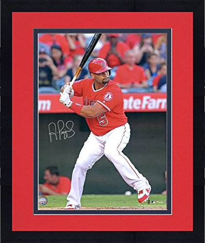 Framed Albert Pujols Los Angeles Angels Autographed 16