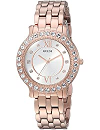 Womens Stainless Steel Crystal Watch, Color: Rose Gold-Tone (Model: U1062L3