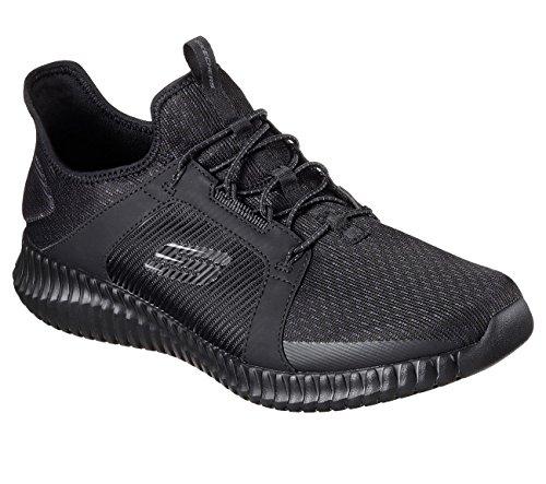 Skechers Uomo Nero Flex Infilare Sneaker Elite rcIXqr