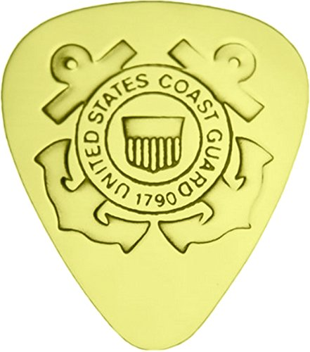 US Coast Guard - Solid Brass Guitar - Mail International Parcel Usps First-class
