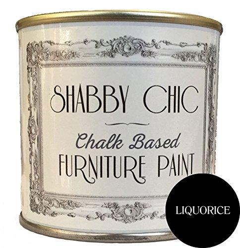 Muebles de barniz en base de tiza, para el Shabby Chic de estilo de, de regalices Negro, contenido: 1 l contenido: 1l Shabby Chic Furniture Paint