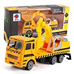 Inkach Construction Vehicles Model Engineering Car Toy Including Friction Powered Dump Truck, Cement Mixer and Excavator Kids Car Model Toys from Inkach - Truck Toys