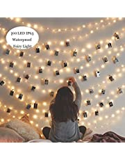 Kitlit LED Guirnalda Luces Cadena Cadena de luces Exterior Interior a pilas Guirnaldas de Luces Impermeable para Decoración Jardines Casas Bodas Navidad
