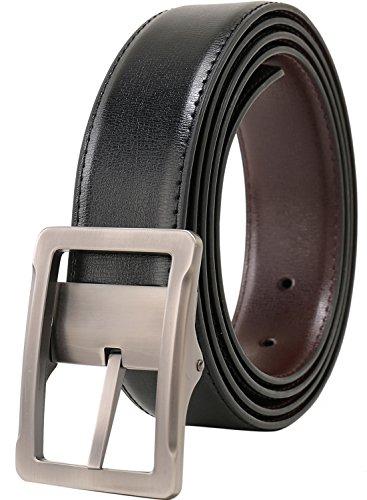 - Beltox Fine Men's Dress Belt Leather Reversible 1.25