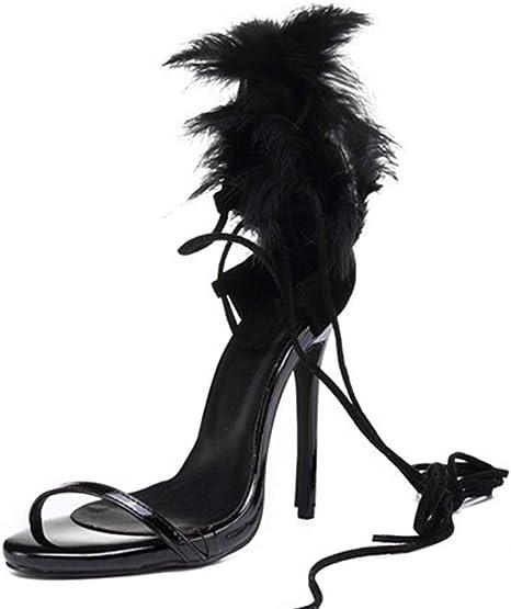 Insole Sandals High Heel,11CM Black