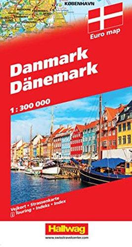 Danemark : 1/400 000 (Anglais) Carte – Carte pliée, 27 janvier 2005 Rand McNally Hallwag Bern 382830012X