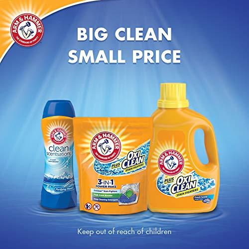Arm & Hammer Plus OxiClean Fresh Scent, 128 Loads Liquid Laundry Detergent, 224 Fl oz