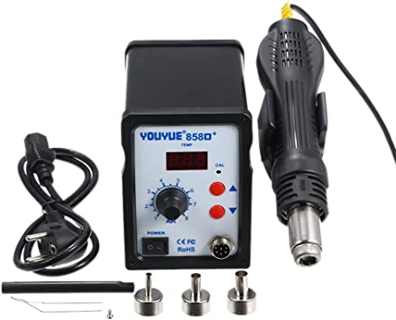 Juego de plancha el/éctrica para SMD SMT DIP Tipo2 KKmoon Estaci/ón de soldadura,alta calidad 858D 700W,LED digital de rean/álisis BGA,Pistola de aire caliente