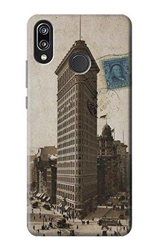 R2832 New York 1903 Flatiron Building Postcard Case Cover For Huawei P20 Lite (Postcard Flat Iron Building)