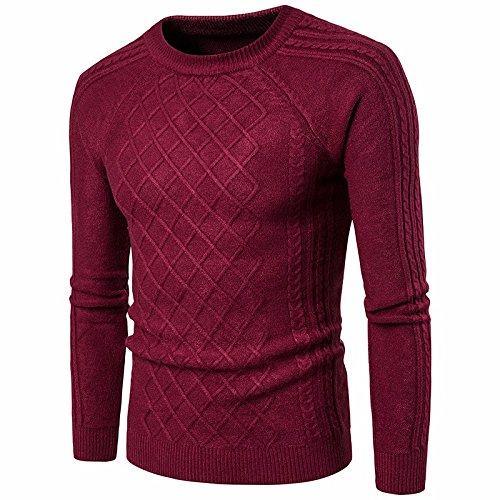 OME&QIUMEI Männliche Vertikale Streifen Pullover Herren T-Shirt Schwarz Pullover Mantel Pullover Größe