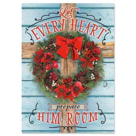 Holiday Cross Religious Christmas Cards - Holiday Greeting Cards, Set of 18, Large 5