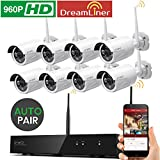 Cheap [Dream Liner WiFi Booster] xmartO WOS1388 8 Channel 960p HD Wireless Security Camera System with 8 HD Outdoor Wireless IP Cameras (Auto-Pair, Built-in Router, 1.3MP Camera, No HDD)