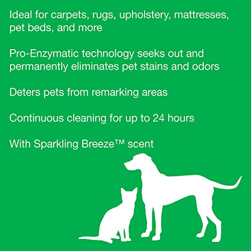 Rug Doctor Platinum Urine Eliminator Spray, Permanently Removes New and Old Pet Stains, Neutralizes Odors with Sparkling Breeze Scent, 24 oz.