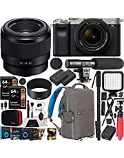 $2298 » Sony a7C Mirrorless Full Frame Camera 2 Lens Kit Body with 28-60mm F4-5.6 + 50mm F1.8 SEL50F18 Silver ILCE7CL/S Bundle with Deco Gear Photography Backpack Case, Software and Accessories