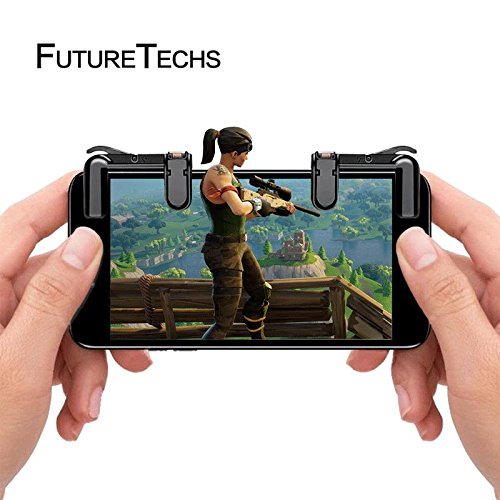 Cheap Mobile Game Controller (Newest Version), Sensitive Shoot And Aim L1R1 Buttons for FORTNITE/Knives Out/Rules Of Survival,PUBG, Mobile Joystick For Andriod And IOS (1 Pair) For Adults, Teens, And Kids