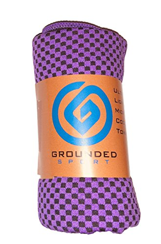 Cooling Towel (packaged as shown) by Grounded Sport | Bamboo Microfiber Sport Cooling Towel for Gym, Outdoors or Travel | Ultra Lite 12