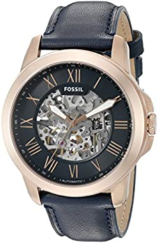 Fossil Men's Grant Leather Automatic Watch