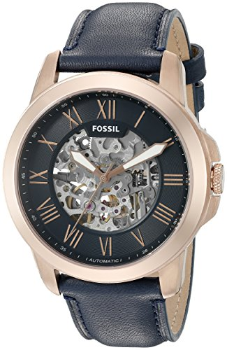 Fossil Men's ME3102 Analog Display Automatic Self Wind Blue Watch