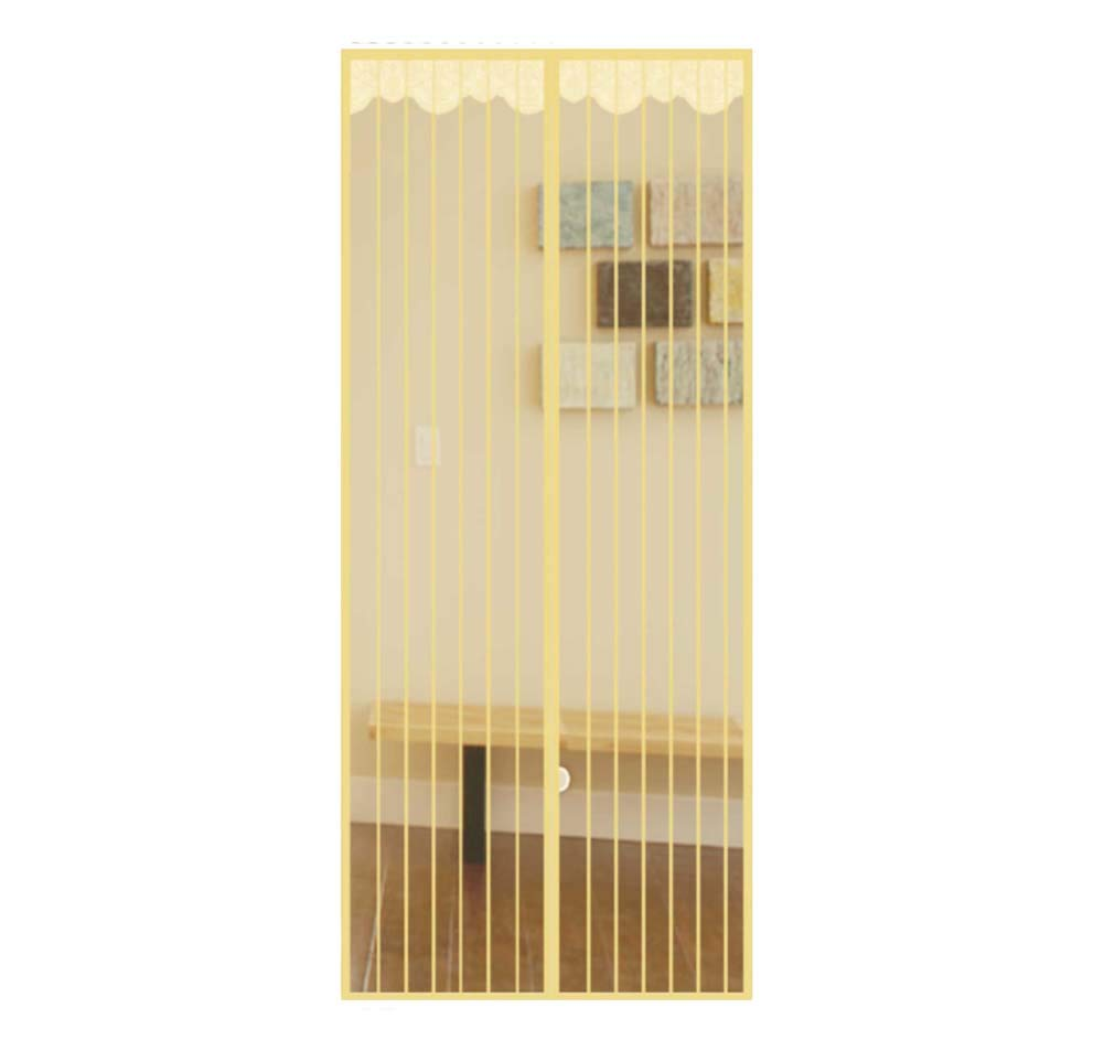 Fly Screens for Doors - Mesh Door Curtain, Hands Free, Keeping Flies, Mosquito Out and Let Fresh Air in, Full Frame Velrco Instant Mesh Curtain,95x200cm(37x79inch)