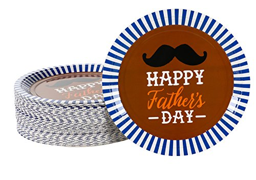 Disposable Plates - 80-Pack Party Paper Plates Father