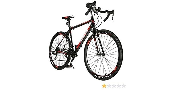 ORKAN Shimano 700C X 54C Bicicleta de Carretera 14 Velocidad Aluminio Marco Tenedor de Acero Racing Bicicleta: Amazon.es: Deportes y aire libre