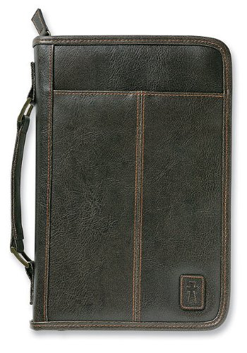 Aviator Leather-Look Brown Large Book and Bible Cover