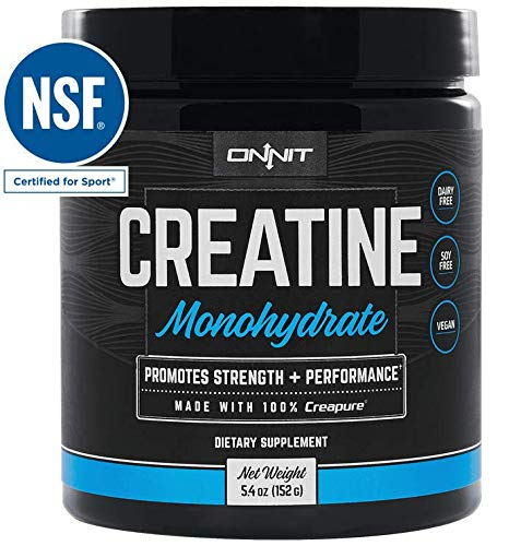 Onnit Micronized Creatine Monohydrate (Creapure) - 5g Per Serving - NSF Certified Creatine Powder - 30 Servings