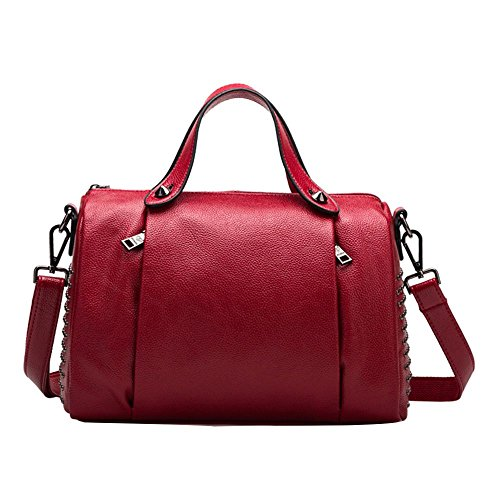 Bag Bag Cowhide Wine Work Waterproof Bag Travel Leather Switches 48 Red Diagonal Women Red Shoulder Travel Leather r Jvps Bag wIHcqTP