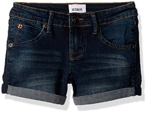 HUDSON Girls' Toddler Roll Cuff Short, Dark Vintage, 3T - Hudson Vintage Jeans