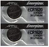 Health & Personal Care : 2 Energizer CR1620 Lithium 3V Coin Cell Batteries