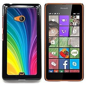 Stuss Case / Funda Carcasa protectora - Vertical remolina colores del arco iris colorido - Nokia Lumia 540