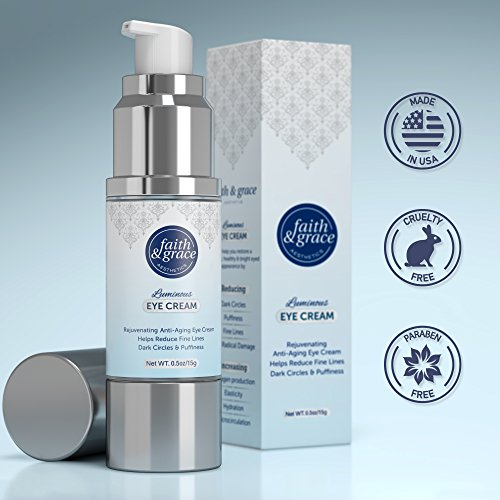 51pbTbwhc%2BL - Faith and Grace Anti Aging Eye Cream (MADE in USA) BEST for Improving Dark Circles, Fine Lines and Puffiness. Reduce Breakdown of Collagen, Soothe and Rejuvenate for a Healthy Youthful Appearance