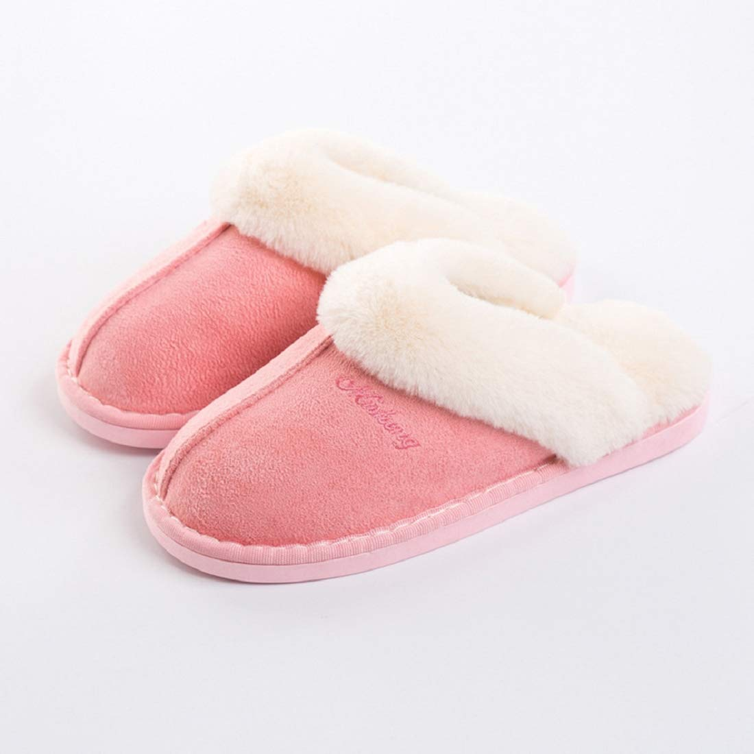 Bkolouuoe Women Slippers Fluffy Fur Slip On House Slippers Winter Solid Soft and Warm House Shoes for Indoor Outdoor