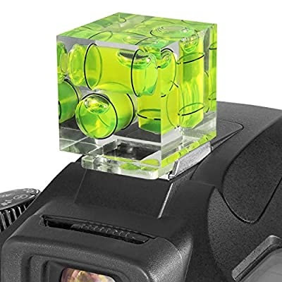 Three Axis Hot Shoe Bubble Level for all DSLR Cameras with a Standard Hot Shoe Mount (Canon Nikon Sony) by Goja