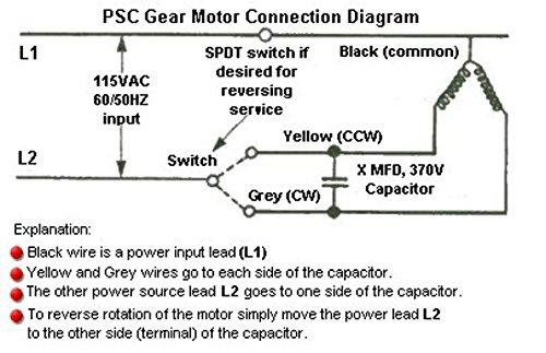 Dayton AC Gearmotor 115 Nameplate RPM 10 Max. Torque 26.0 in ... on