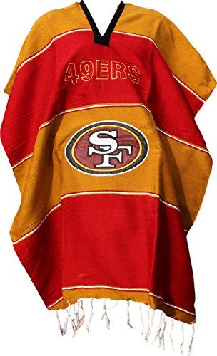 Trade MX Football Team Serape Poncho Adult Size (San Francisco 49ers) (Costumes In San Francisco)