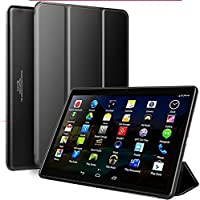 Tablet 10 Pulgadas Android 9.0 Pie 2020 New, Tablet PC 4G/WiFi, 3GB RAM+32GB ROM/128GB 8500mAh Quad-Core Dual SIM Bluetooth/GPS/OTG Tablets de función de Llamada Youtube -Negro