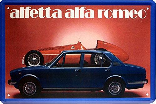 Alfetta Alfa Romeo Auto Car 20x 30cm cartel de chapa 1581 Blech