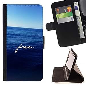 - Queen Pattern FOR Samsung Galaxy S6 /La identificaci????n del cr????dito ranuras para tarjetas tir????n de la caja Cartera de cuero cubie - free ocean motivational deep blue sea