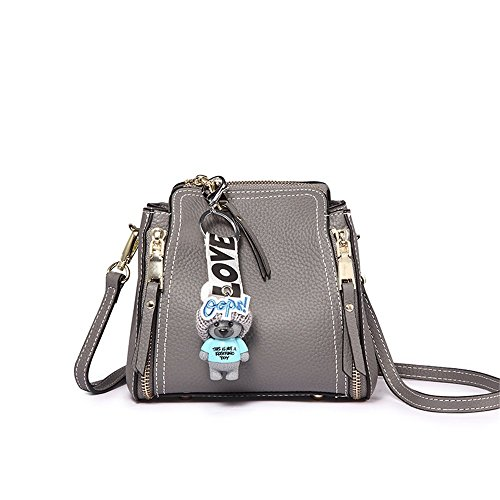 Joker 19 Messenger Portable 12cm Leather Bucket 22 XDDB Bag Bag Gray Shoulder Mini pxgIaI