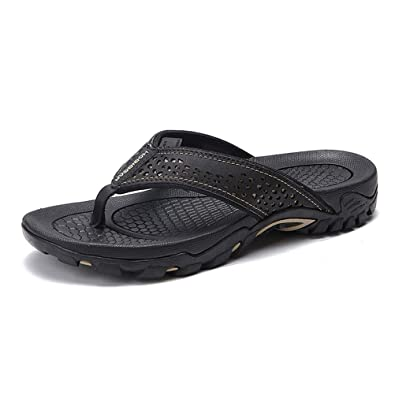 ad74bafd12156e pingxiangxianxiaojudouerton Men s Sandals Flip-Flop Sports Comfortable Black