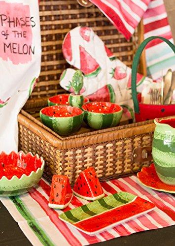 Boston International Ceramic Tri Dish and Spreader, Watermelon by Celebrate the Home (Image #3)