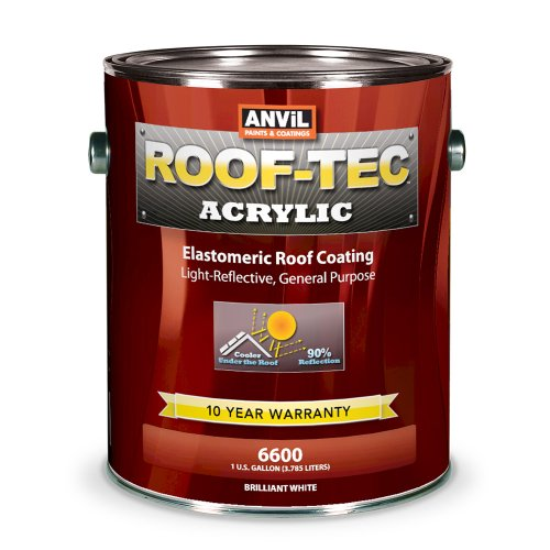 Price comparison product image Anvil ROOF-TEC Acrylic White Elastomeric Roof Coating - 1 Gallon