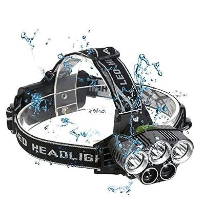 Neolight LED Headlamp Headlight, Waterproof Super Bright 8000 Lumen Headlamp Rechargeable 6 Modes Headlights for Climbing, Camping, Walking, Caving, Fishing, Cycling